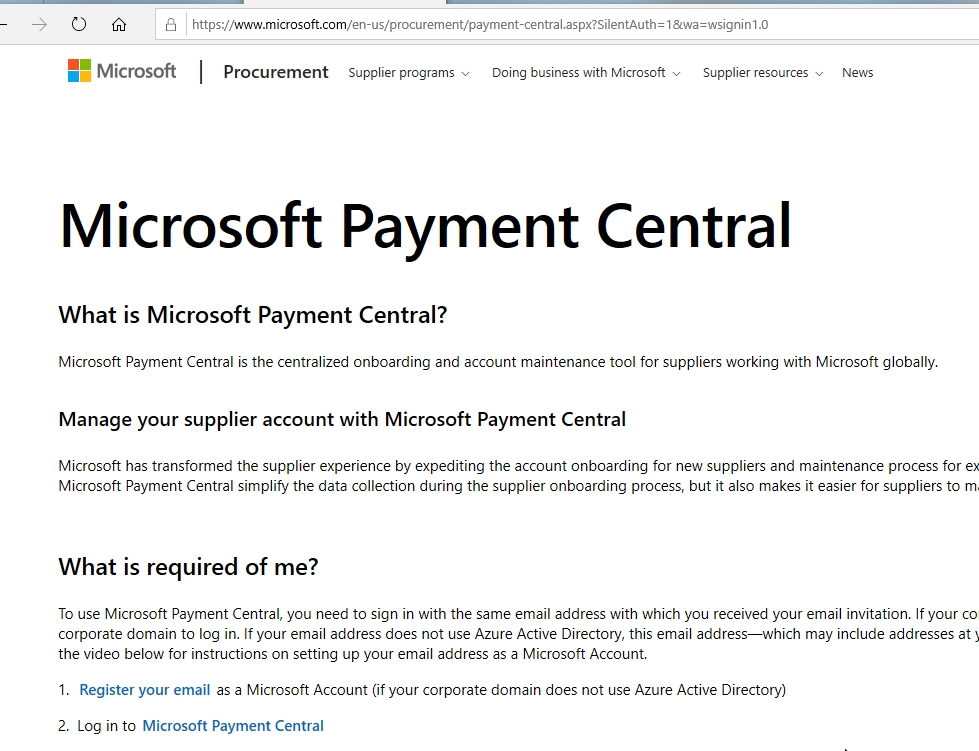 """Just got an e-mail from """"Microsoft Payment Central"""" about registering for a payee... e8be26e8-840f-4315-a30f-d2a2cc54c4e0?upload=true.jpg"""
