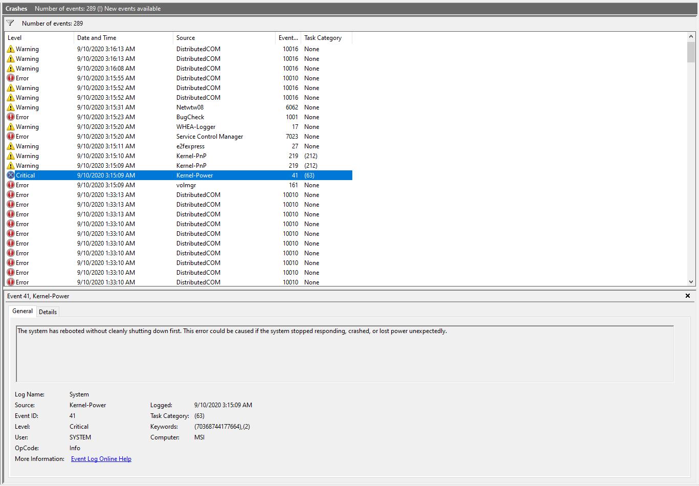 BSOD - volmgr 161, then Kernel-Power 41 e9e69f9e-dff8-41d6-87c5-82e5a7ab0f97?upload=true.png