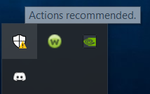 """""""Actions recommended"""" but nothing shows up? eb9aa20f-2134-4f3c-b1d0-2dcf6fb8954f?upload=true.png"""