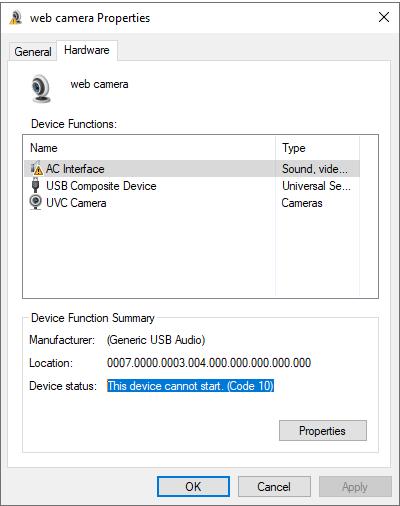 Webcam won't start code 10 error ebd3d8cc-912f-4fde-b2aa-d11205f6b383?upload=true.png