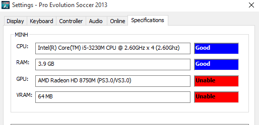 Unable to play PES 2013 on Windows 10 ed745d73-a710-41f6-9d11-44f05e6b716d.png