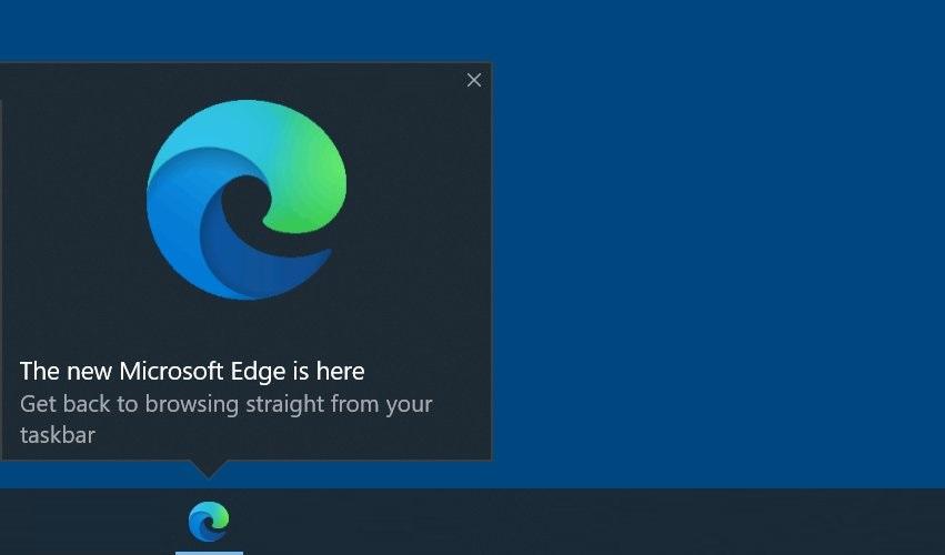Microsoft now has recommendation for Edge browser in the taskbar Edge-taskbar-ad.jpg