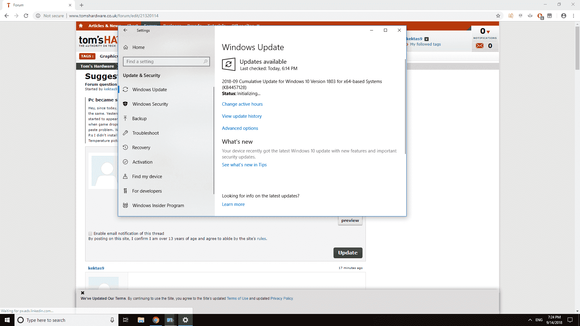 HUGE windows update problem with the newest update