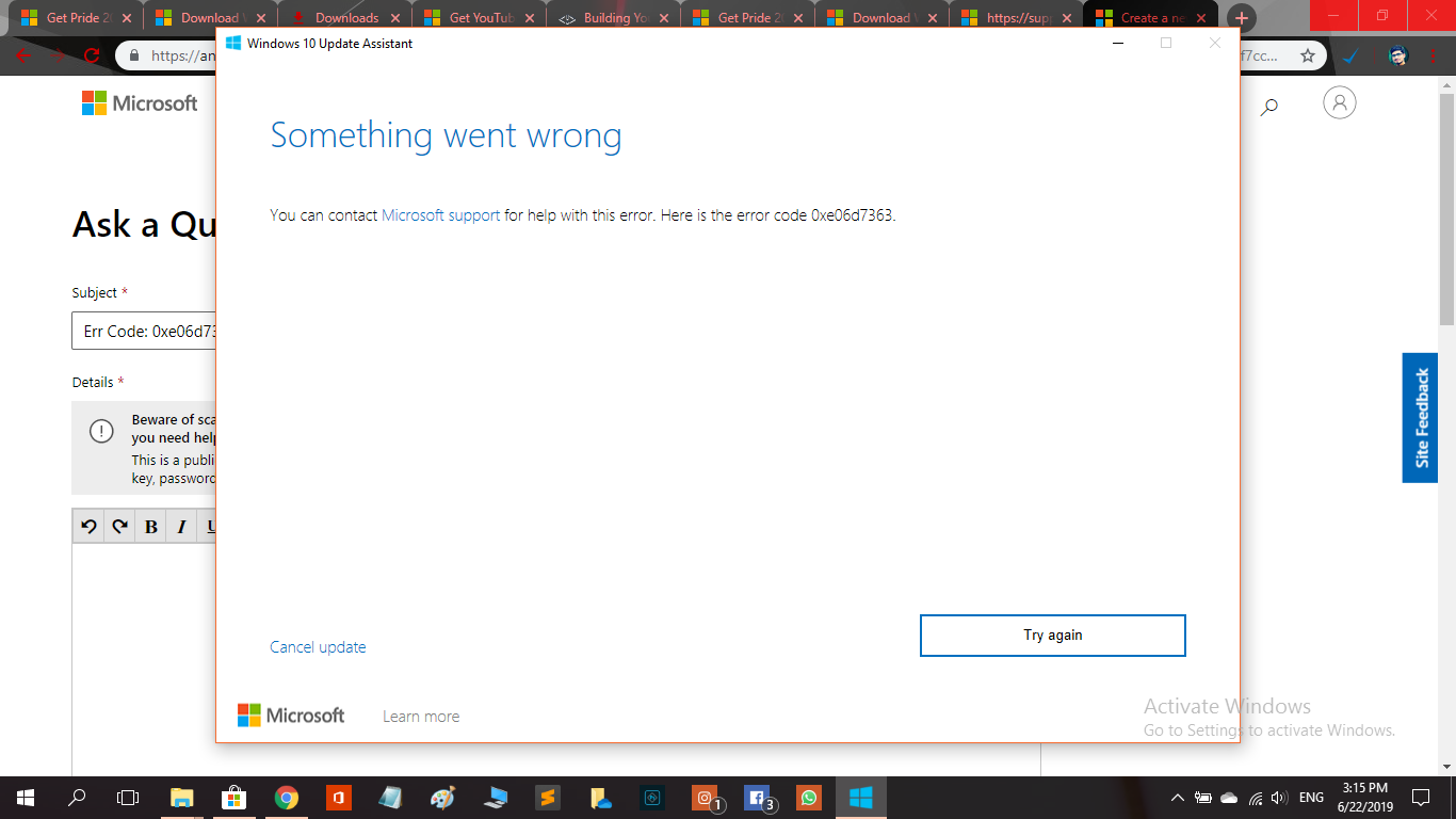 WIndows 10 update fails to complete and gives me this error code 0xe06d7363 eef76947-7ff4-4b44-8f99-2169685f1f47?upload=true.png