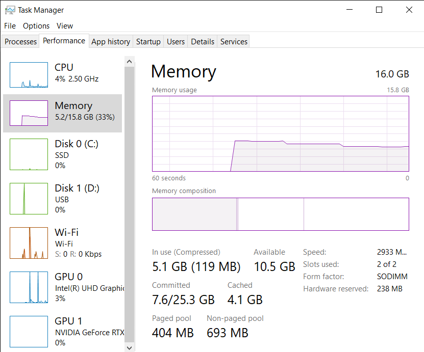Ram usage on idle is at 47% after updating to 20h2? ef378d7c-f5c6-4340-861d-2803fbdf84ad?upload=true.png