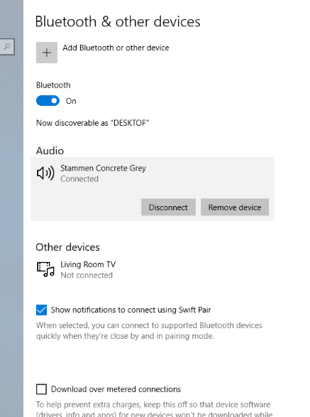 Windows 10 Bluetooth connects to speakers but no sound (Sound occasionally comes in for a... ehlZX.png