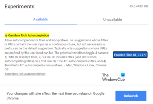 Enable Rich Address Bar Autocompletion Suggestions in Chrome browser Enable-or-Disable-Rich-Address-Bar-Autocompletion-Suggestions-in-Chrome-300x204.png