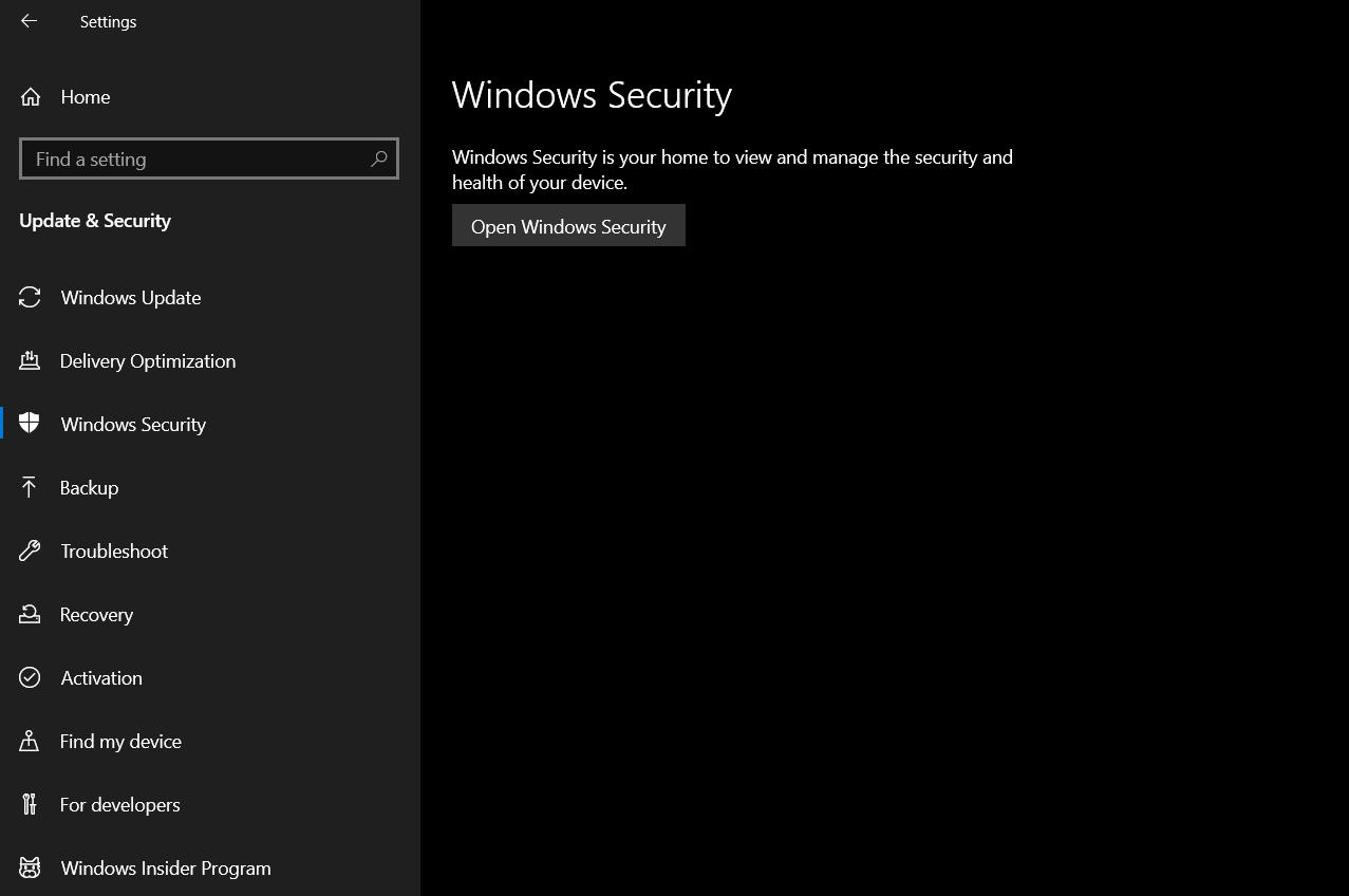 Can't enable Windows Defender