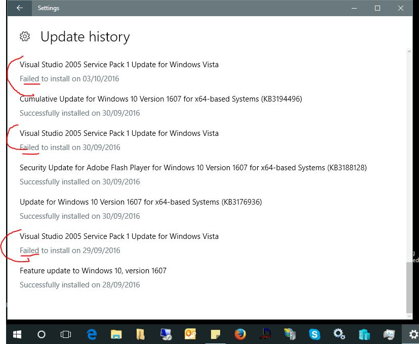 Windows 10 - Visual Studio 2005 Service Pack 1 Update for Windows Vista - keeps installing! f479e769-138e-4344-ac52-36bb21f5d0f3.jpg