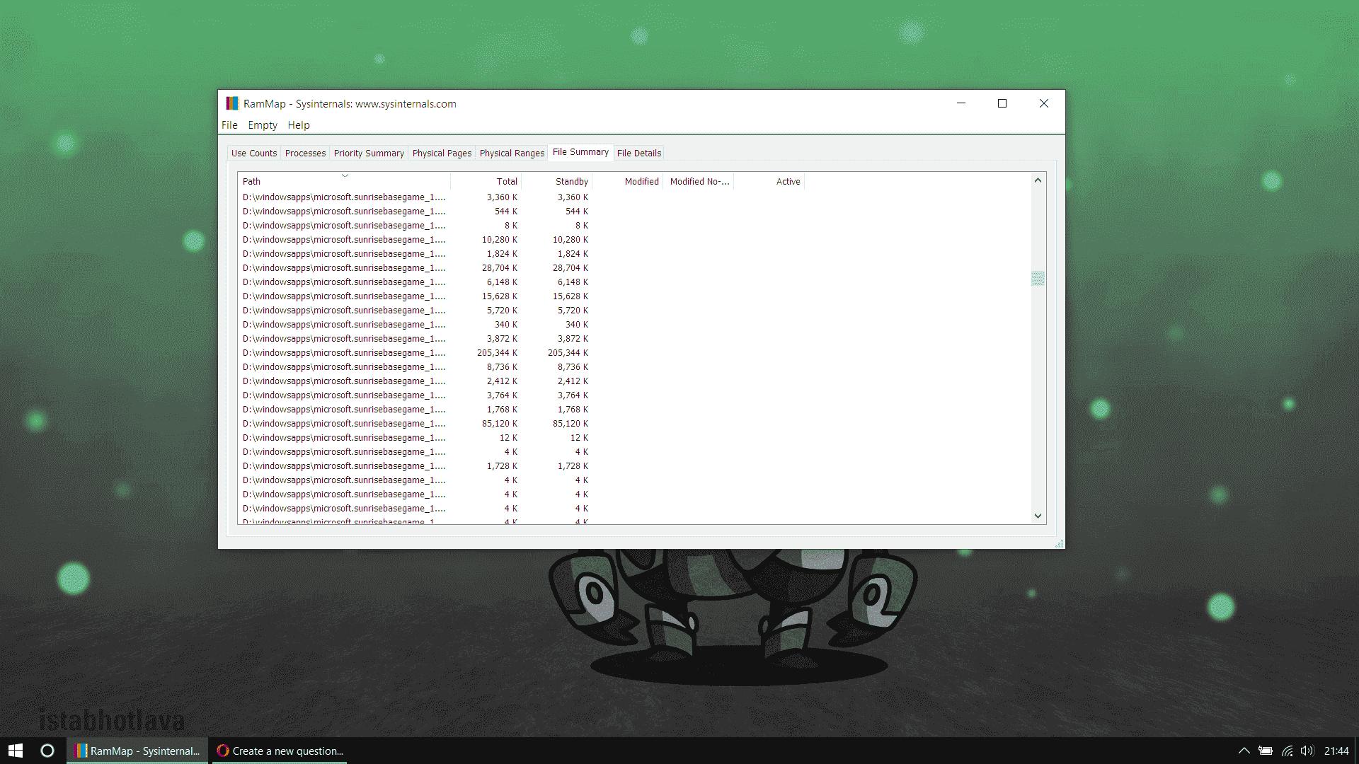 Windows preloading Forza Horizon 4 into ram