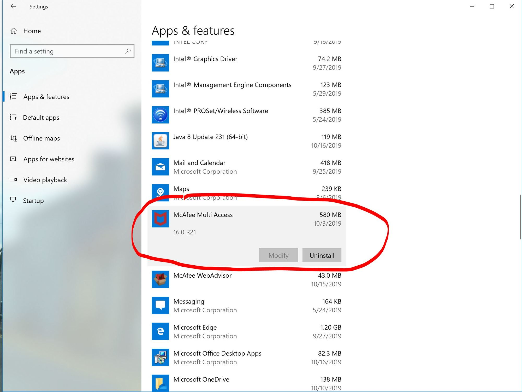 Windows Security - Showing TWO 2 Mcafee Apps in Settings Security since last Windows Update f97e930e-3550-4d7e-a8e9-35b7ac4b8e6d?upload=true.jpg