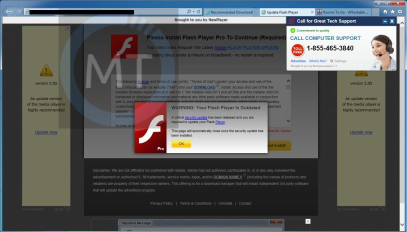 Fake Adobe Flash Player popup Installer and Redirect Virus fake-flash-player-pro-virus.jpg
