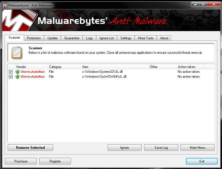 Missing file after Malwarebytes scan