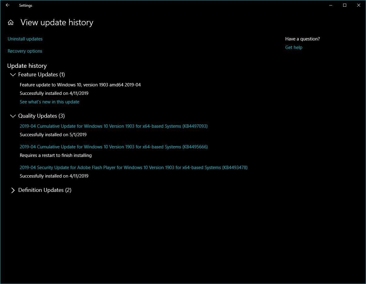 new windows update wont install