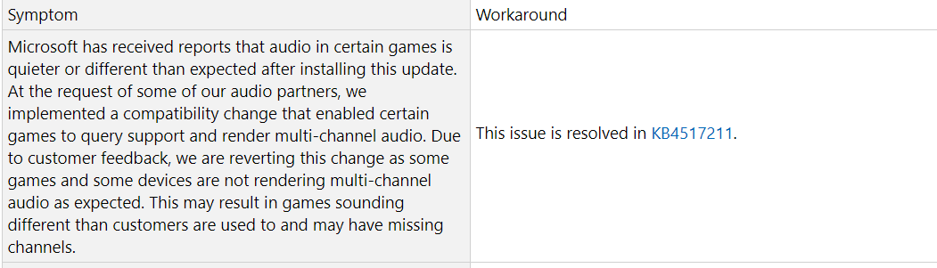 KB 4515384 Has messed my audio up in games and i cannot uninstall it! fbeddf0a-3ceb-4b10-8f4e-fdd3d62ee856?upload=true.png