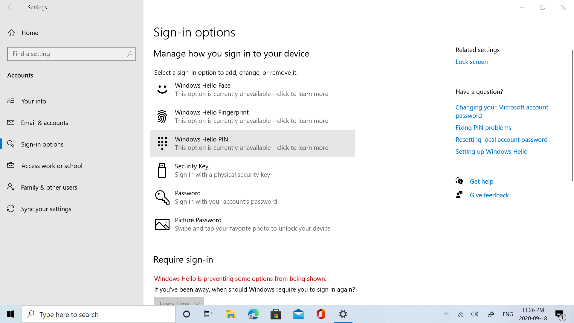 All Windows Hello sign-in options are unavailable fc2c6f9a-5949-4e47-98a0-d7b5d8e97f3b?upload=true.png