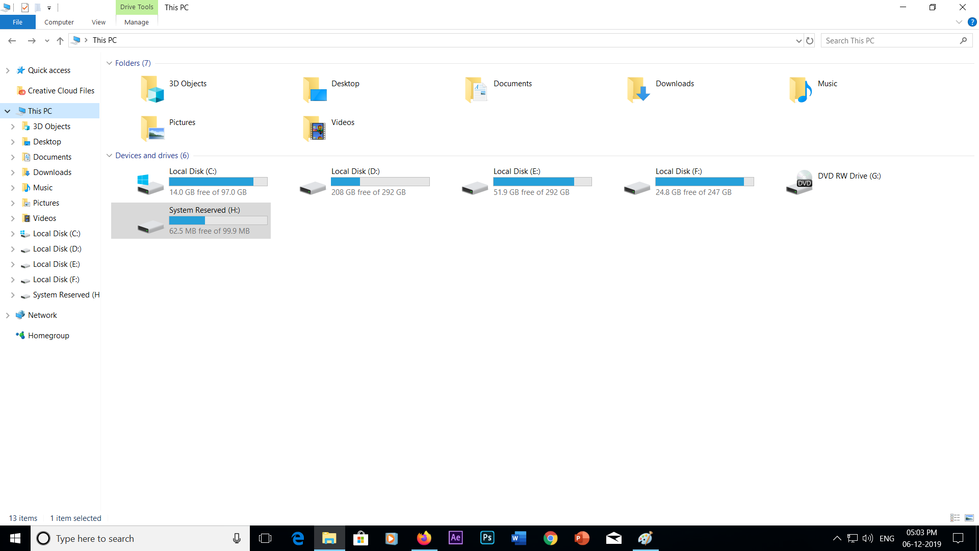 Windows Explorer showing System Reserved drive fc548285-9e28-4e55-a72f-d8d2ae887f7e?upload=true.png