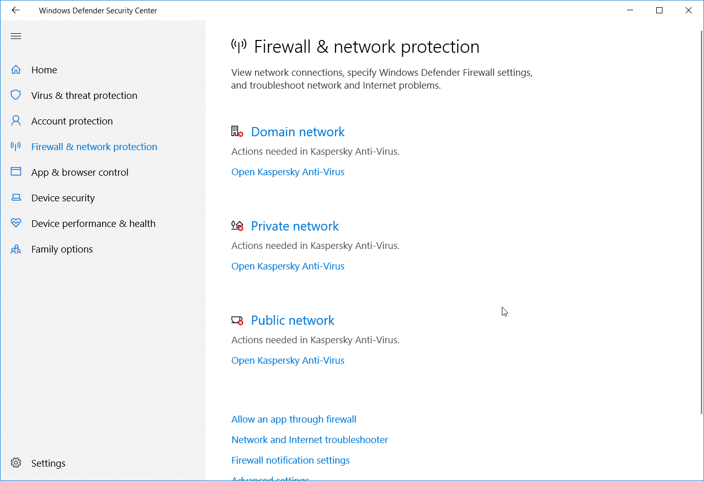 Firewall & network protection - Action needed in Kaspersky Anti-Virus (red X) fe799dbe-41a7-48e1-9969-e76695745ce0?upload=true.png