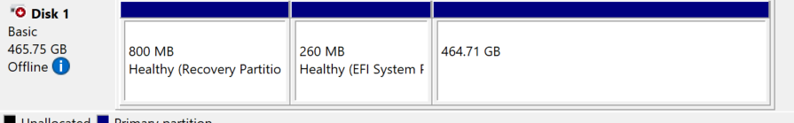 """Tech/help - """"This disk is offline because it has a signature collision with another disk... fe8d2451-f8b1-4fae-829a-b44af713fe62?upload=true.png"""