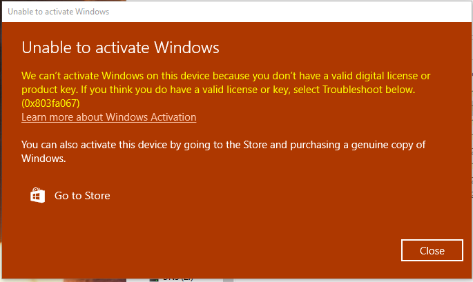 Cannot activate windows on my computer (0x803fa067) ffdf2c84-371b-499a-a612-99cfda07b5c4?upload=true.png
