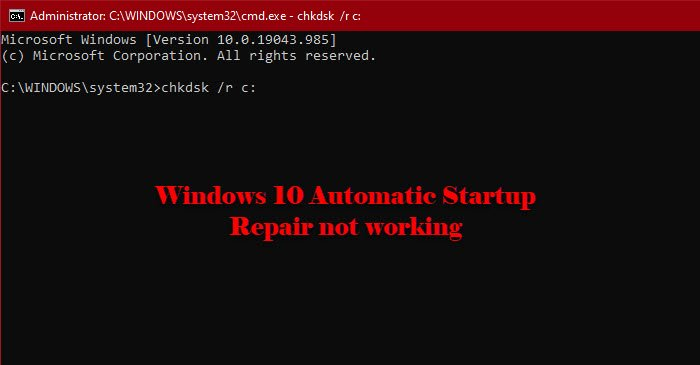 Fix Windows 10 Automatic Startup Repair not working fix-by-chkdsk.jpg