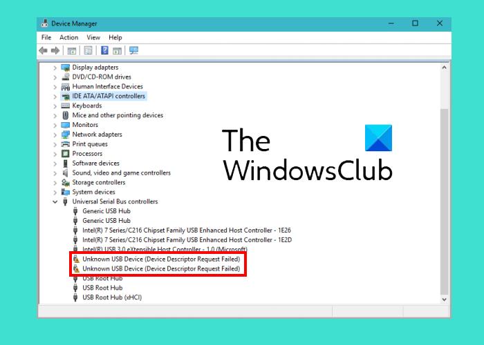 Fix Unknown USB Device, Descriptor Request Failed error on Windows computers Fix-Device-Descriptor-Request-Failed-error.png