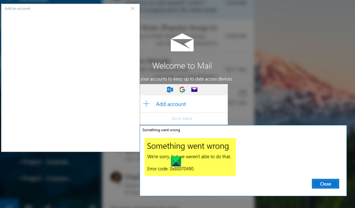 Fix Error 0x80070490 when trying to add an account to Mail app in Windows 11/10 Fix-Error-0x80070490-in-Mail-app.png