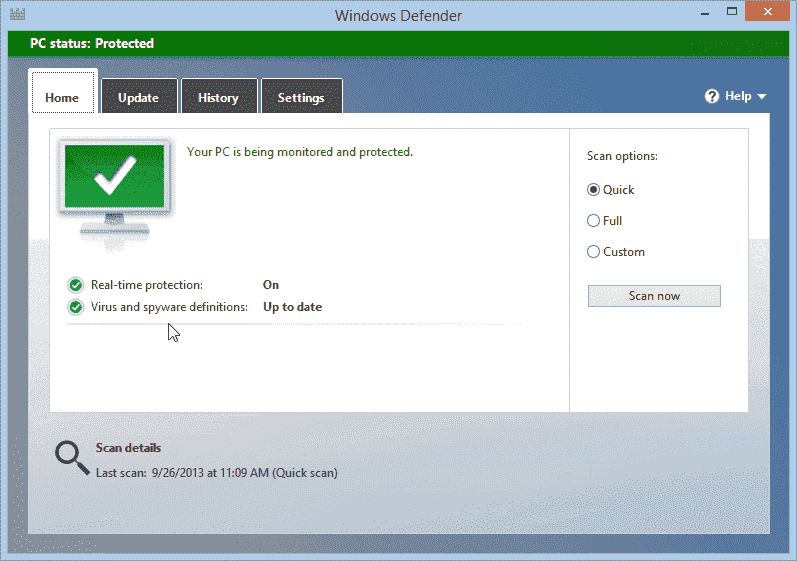 I am running Norton Security. How do I turn off Windows Defender? fixedbyvonnie-windows-8-1-windows-defender-on.png
