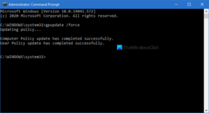 How to force Group Policy Update in Windows 10 force-Group-Policy-Update-300x162.png