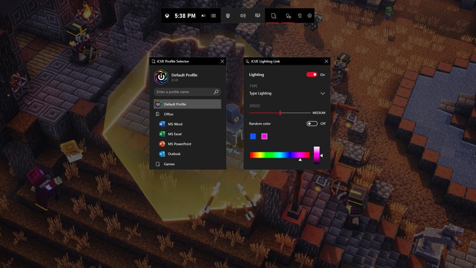 Can't install widgets from Xbox Game Bar GameBar_CORSAIR_iCUE_Profiles_Lighting_2.jpg