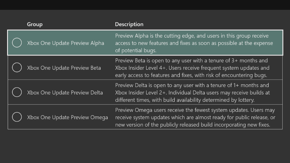 Xbox One Preview Alpha ring 1910 System Update 190812-1924 - August 14 Hero_PreviewAlpha_Hero.png