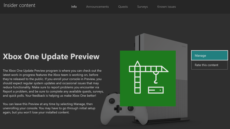 Xbox One Preview Alpha Skip Ahead 1910 Update 190812-1924 - August 14 Hero_XboxOneUpdatePreview_Hero.png
