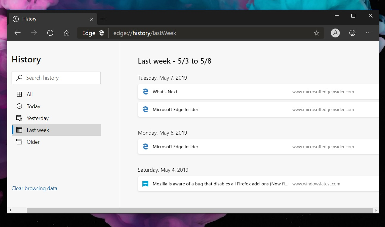 Microsoft rolls out new Edge update for Windows 10 with improvements History-page-in-Edge.jpg