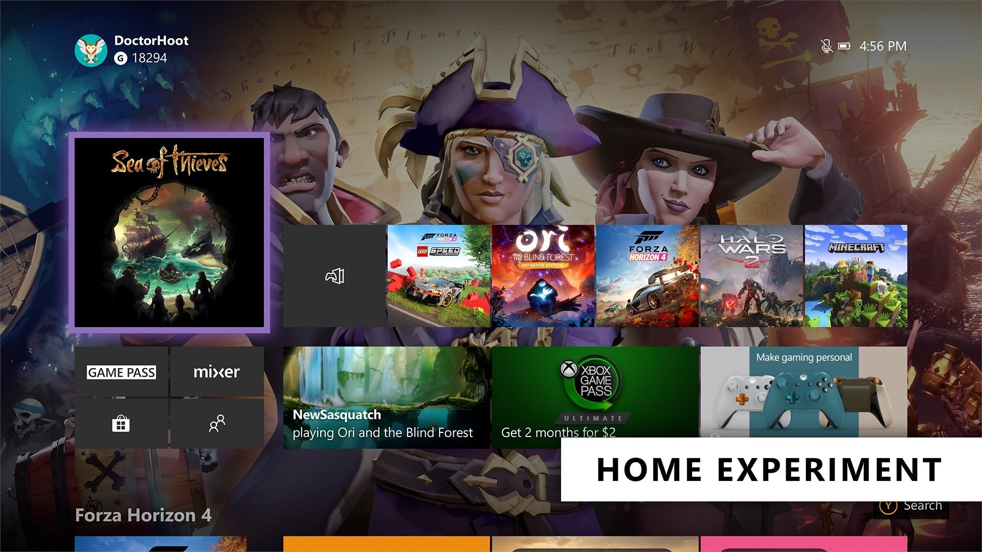 Xbox Insiders Get Ready for the Next Xbox One Home Experiments  Xbox home2.jpg
