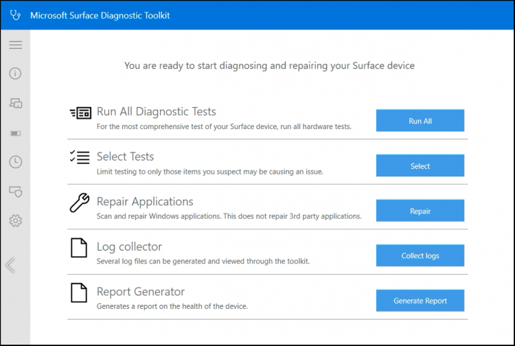 Use Microsoft Surface Diagnostic Toolkit in Windows 10 homesdt1-e1544482807803.png