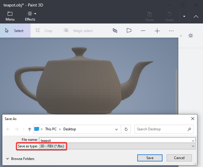 How to convert OBJ to FBX using Paint 3D in Windows 10 how-to-convert-obj-to-fbx-using-paint-3d-windows-10-4.png