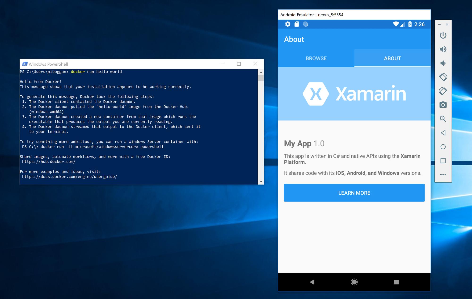 Android emulator not on Windows Store as claimed? HyperV-Emulator-Docker.png