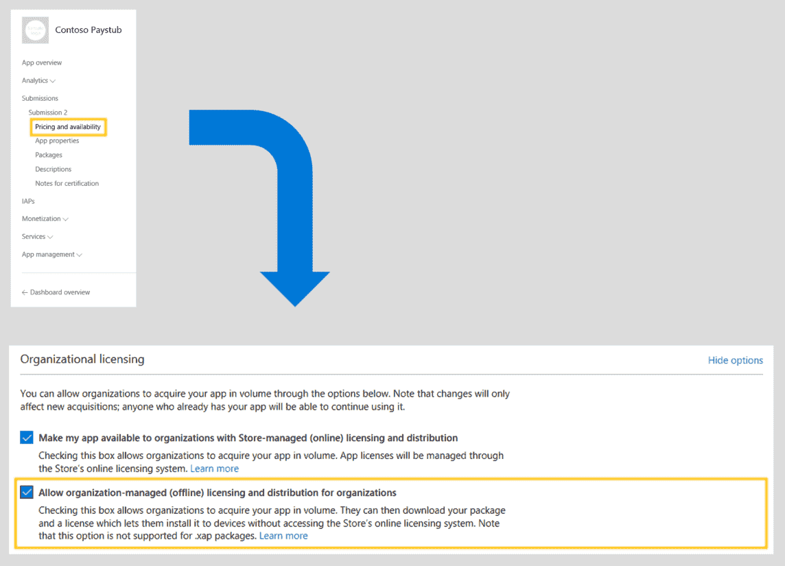 Volume licensing/deploying paid apps in the MS Store to an image IMAGE14.png