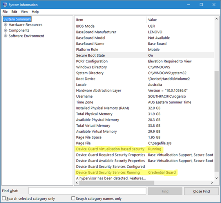 Verify if Credential Guard is Enabled or Disabled in Windows 10 image_thumb_73005E0F.png