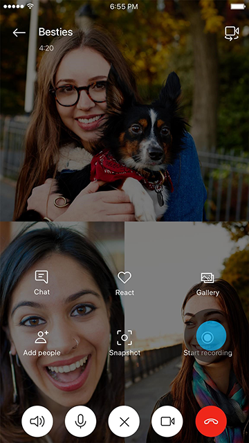 Skype Preview version 8.43.76.38 Introduces Screen Sharing on Mobile Introducing-Skype-call-recording-2b.png