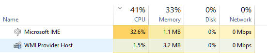 Microsoft IME High CPU After Installing September KB4516058 JGCxa.png