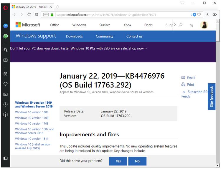 KB4476976 for Windows 10 version 1809 and Server 2019 released KB4476976-windows-10-version-1809.png