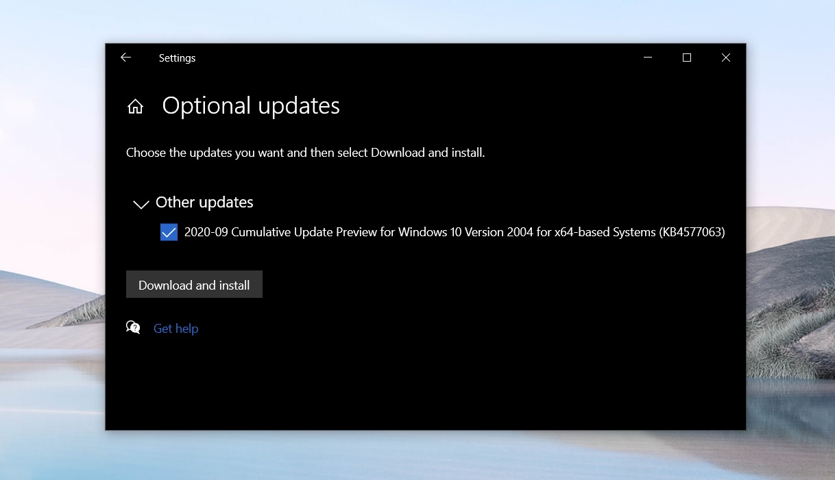 Windows 10 KB4577063 (Build 19041.546) released with major fixes KB4577063.jpg