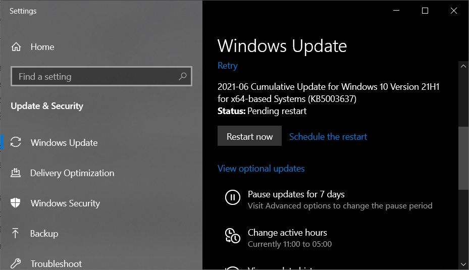 Windows 10 Build 19043.1052 is now available, download offline installers KB5003637-update.jpg