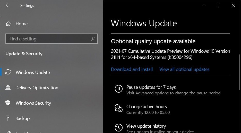 Windows 10 KB5004296 (21H1, 20H2) released with performance fixes KB5004296-update.jpg