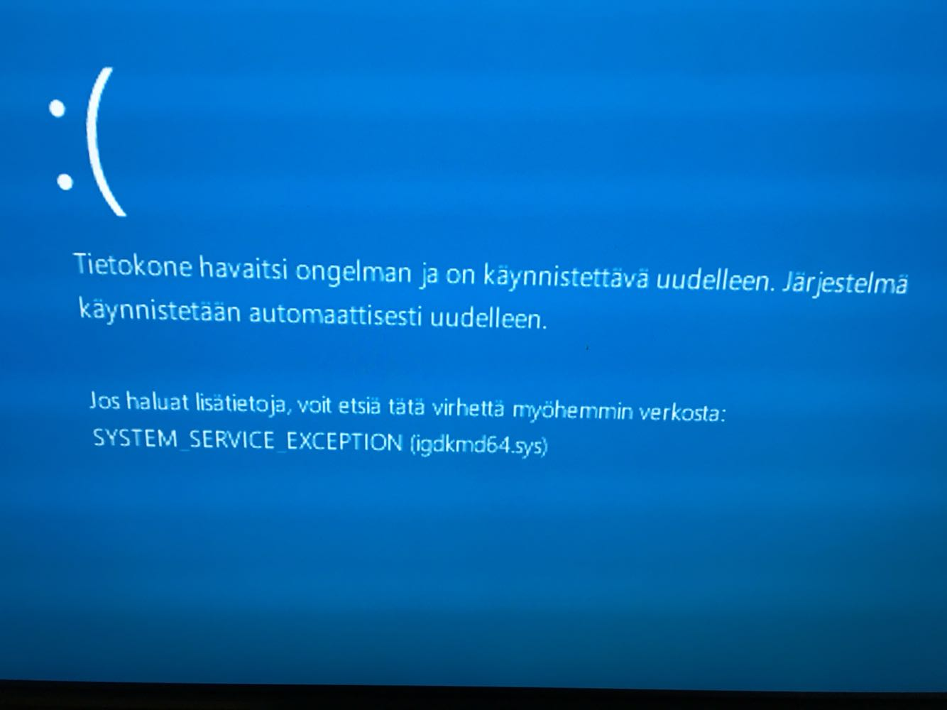 BSOD SYSTEM_SERVICE_EXCEPTION fltmgr.sys KdX1s.jpg