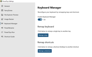 How to use PowerToys Run and Keyboard Manager PowerToy Keyboard-manager-key-mapping-300x187.png
