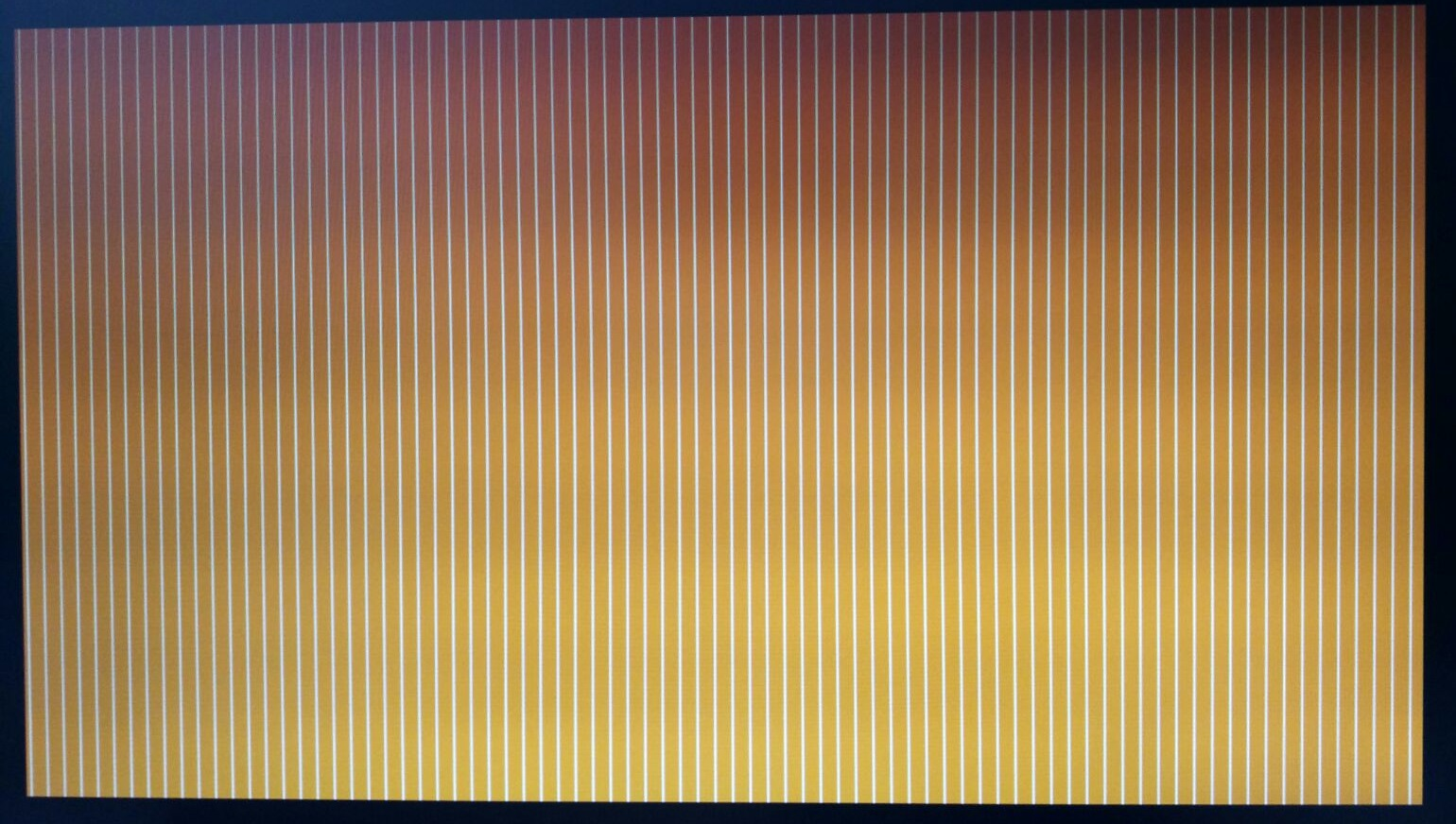 Orange screen with vertical white lines on startup KGNmd.jpg