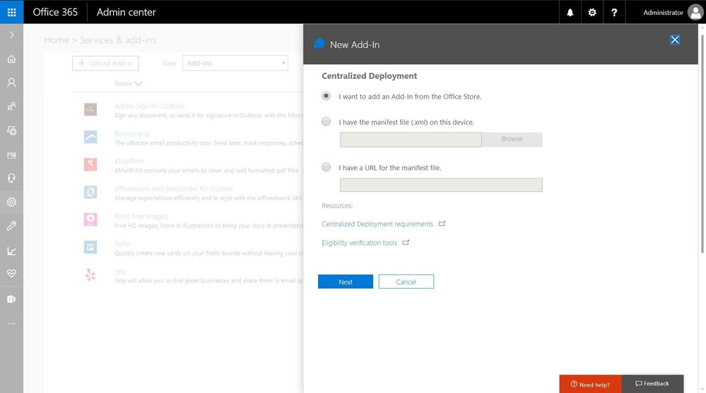 Removed Outlook add-ins are reinstated large?v=1.jpg