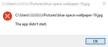 "Microsoft Photos App error ""the app didn't start"" LDijv.png"